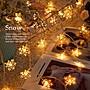 LED 雪花造型燈串- 電池款(1.5米10燈)暖白光...