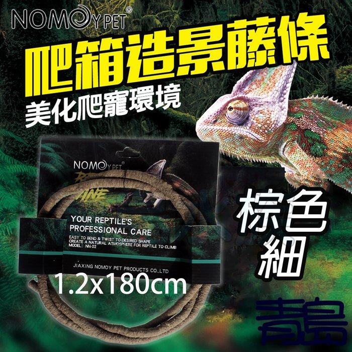 Y。。。青島水族。。。NN-02-SS中國NOMO諾摩-藤條造景 藤蔓  攀爬 兩棲爬蟲 綠鬣蜥 變色龍 樹蛙==棕色細
