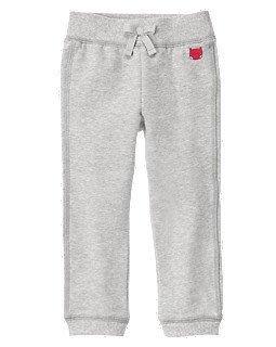 美國 Gymboree 灰色運動長褲(內刷毛)、size:4T