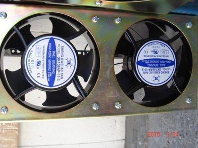 [多元化風扇風鼓]全新4吋無聲靜音2台裝風扇組 110V (音響散熱 吸排都OK)