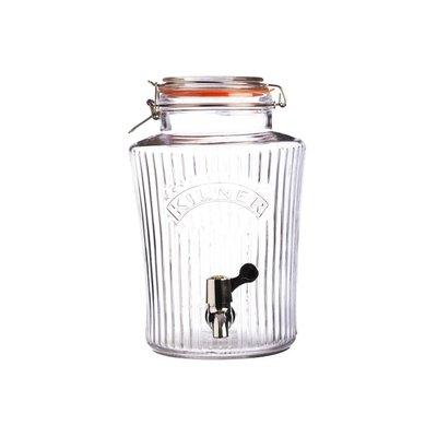 【英國 Kilner】復古系列玻璃飲水器 5L 玻璃飲料桶 派對野餐飲料桶 玻璃桶附水龍頭開關 密封玻璃罐 玻璃密封罐