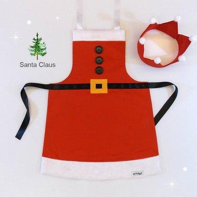 **party.at** 聖誕老人 兒童圍裙 2-8Y  聖誕節服裝 迪士尼 聖誕樹 薑餅人 雪寶 鋼鐵人 超人 蝙蝠俠
