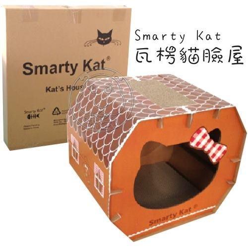 【🐱🐶培菓寵物48H出貨🐰🐹】Smarty Kat》組合式瓦楞貓臉貓屋‧堅固硬挺不倒落 特價494元(補貨中)