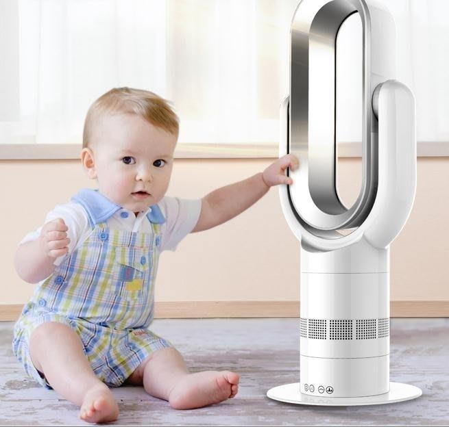 暖風機 無葉風扇冷暖兩用暖風機取暖器電暖器台式家用電風扇 DF