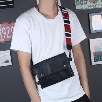 【蘑菇小隊】日系男士包包單肩斜挎包新款軟皮個性斜跨小背包迷你休閒潮流-免運費