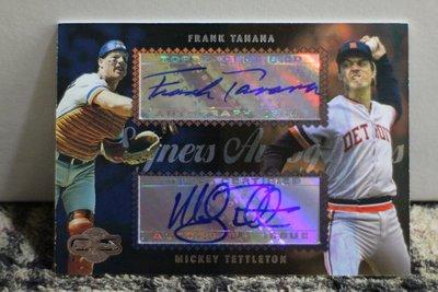 Frank Tanana Mickey Tettleton 2006 Topps Sigs 老虎隊傳奇投捕組合雙星簽名卡