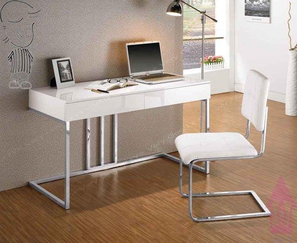 【X+Y時尚精品傢俱】 現代書桌電腦桌系列-麥爾斯 4尺書桌不含皮面餐椅.不鏽鋼腳.摩登家具
