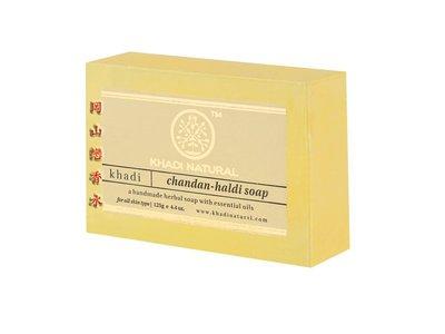 岡山戀香水~印度 Khadi 草本沉香(薑黃檀香)手工精油香皂125g~優惠價:55元
