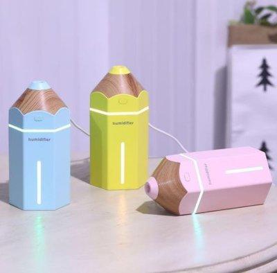 【小柒商店】 買二免運 新款卡通鉛筆加濕器 usb創意桌面小型加濕器 馬卡龍迷妳加濕器帶燈