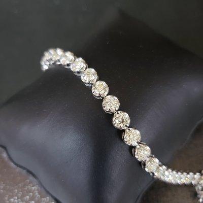 Amor Jewellery by Deckwell Gold Ltd 18k白金6卡52份渾身鑽石手鏈 VS証書貨 (已售)