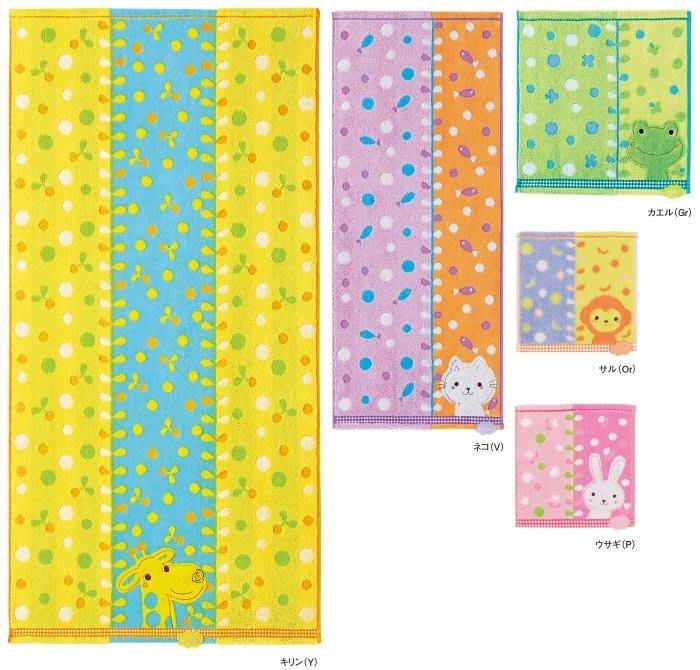 日本 動物彩點浴巾