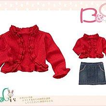 【B& G童裝】正品美國進口Crazy8  紅色鑲金蔥長袖罩衫外套12-18-24mos