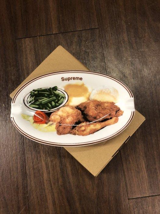 玉米潮流本舖SUPREME Chicken Dinner Plate Ashtray 18WEEK13 雞腿便當 菸灰缸