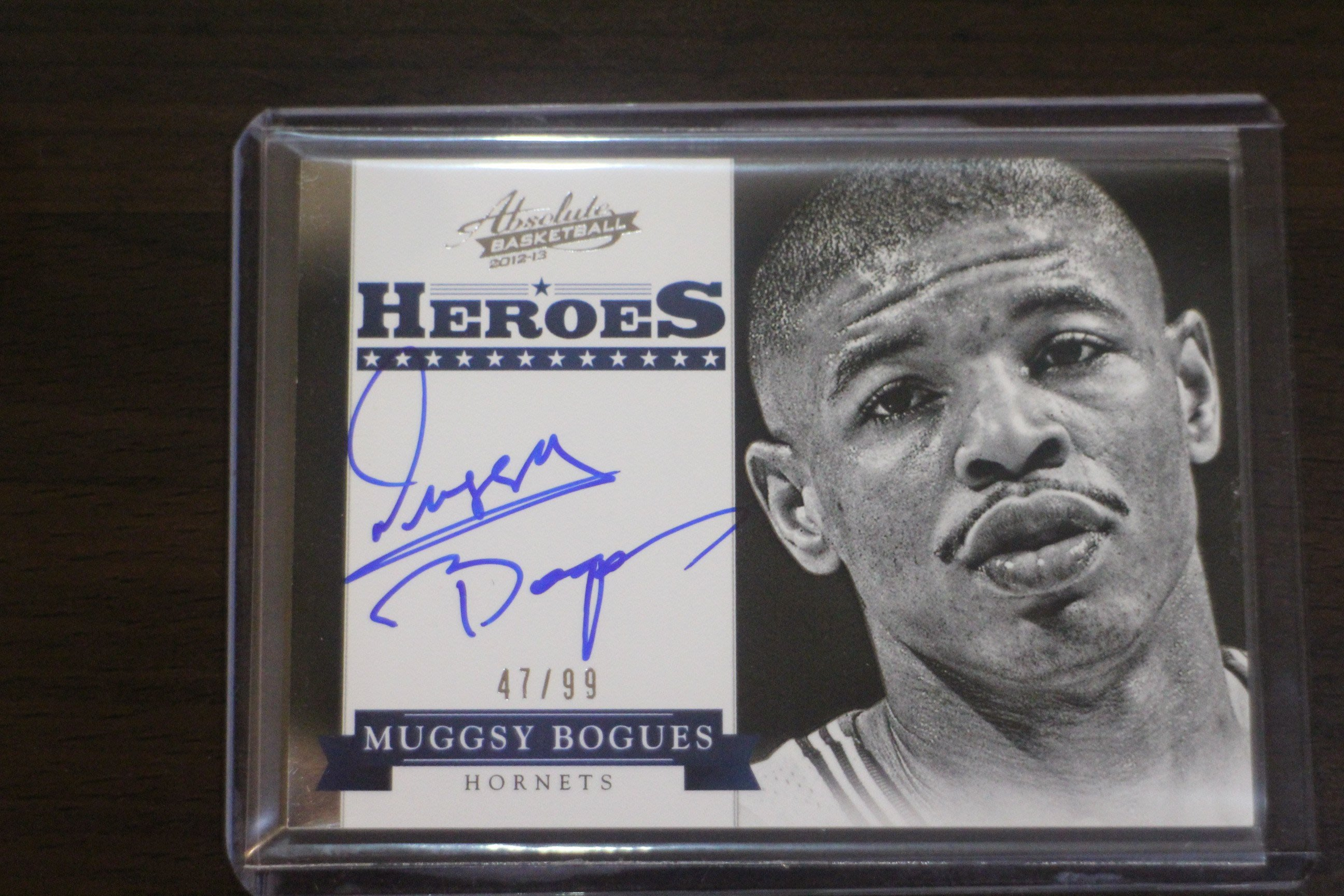 2012-13 Absolute Heroes Auto Muggsy Bogues 限量99張簽名卡