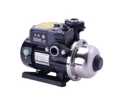 【 川大泵浦 】大井TQ-200B 1/4HP 電子穩壓加壓馬達 TQ200B低噪音-不生鏽水質優