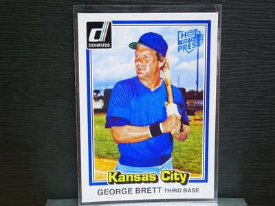 George Brett 2015 Donruss Hot off the Press 藍印平行卡