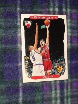 【小蔡子柑仔】NBA芝加哥公牛隊 Jordan 喬丹時期 公牛隊 95-96年紀錄卡 Toni Kukoc 庫科奇 台南市