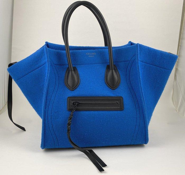[我是寶琪] Celine Luggage 稀有款 藍色羊毛包
