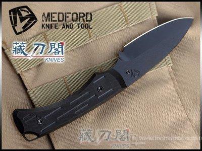 《藏刀閣》MEDFORD-(Colonial)殖民主義-黑色G10柄黑刃直刀