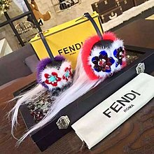 Fendi 7AR466 Mini Beak Mohawk Fur Monster 小型貂毛鳥頭吊飾 粉紅/紫 現貨
