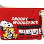 【卡漫迷】 Snoopy 麻繩 化妝包 紅色 ㊣版 ...