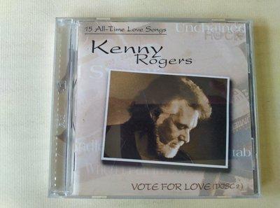 【鳳姐嚴選二手唱片】 Kenny Rogers 肯尼羅傑斯 / VOTE FOR LOVE (雙CD) (微紋)