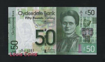 【Louis Coins】B153-SCOTLAND-2009蘇格蘭紙幣,50 Pounds Sterling