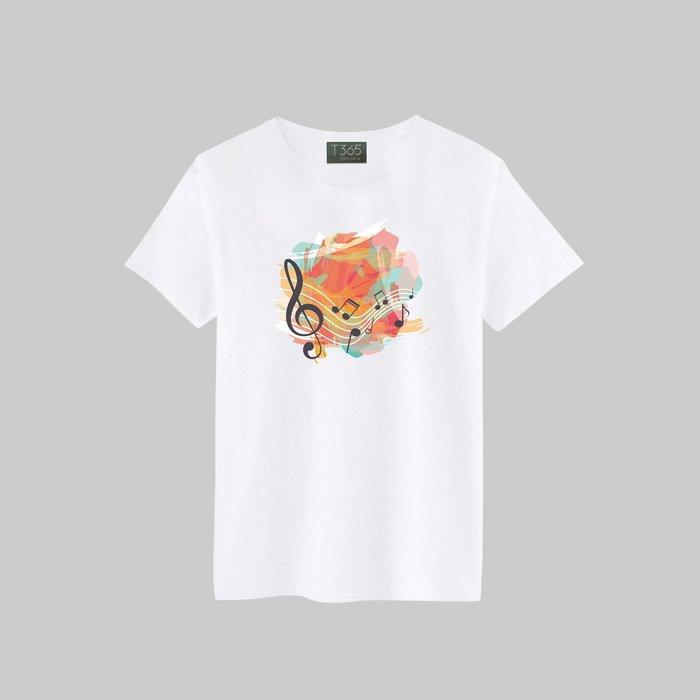 T365 高音譜 低音譜 音符 音樂 T恤 男女皆可穿 多色同款可選 短T 素T 素踢 TEE 短袖 上衣 棉T