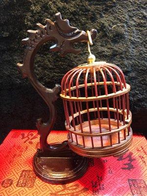 『華山堂』 手工 小型紫光檀 蟈蟈籠子 鳥籠配件 木編 蚱蜢 螞蚱 蟈蟈 蛐蛐 蟋蟀昆蟲籠