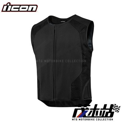 ❖茂木站 MTG❖ ICON HYPERSPORT STRIPPED VEST 背心 真皮 打洞 美式 復古 D3O護具