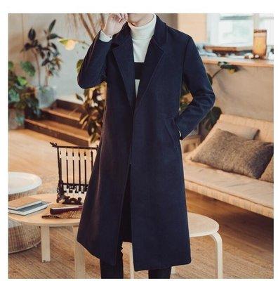 秋風衣男裝中國風刺繡披風青年唐裝外套中長加長版過膝料大衣