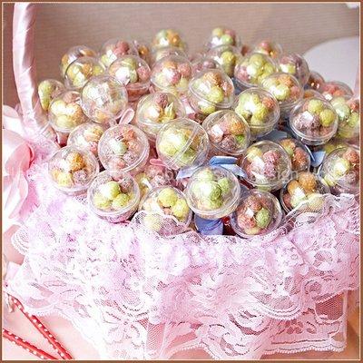 【你好棒-五彩球餅乾棒X100支+大提籃X1個】(限宅配)-生日分享 聖誕糖果 情人節 二次進場 來店禮贈品幸福朵朵