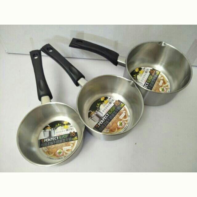 湯鍋 泡麵鍋 316單柄鍋 雪平鍋 316不鏽鋼雪平鍋20cm(極緻)台灣製造一入