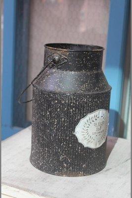 zakka糖果臘腸鄉村雜貨坊    雜貨類... 法式牛奶桶造型提桶(婚禮布置派對會場園藝造景攝影道具乾燥花裝置藝術婚紗