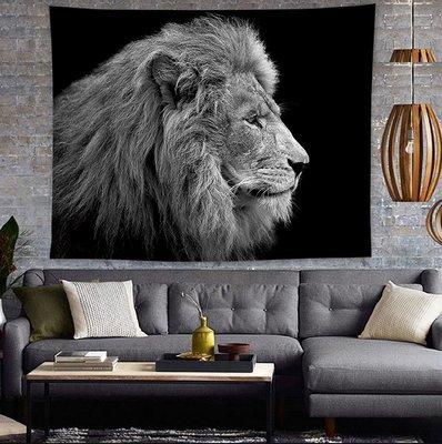 動物掛毯-獅子老虎豹掛布沙發防塵布蓋布客廳書房臥室牆壁裝飾毯掛畫(150*200cm)_☆找好物FINDGOODS☆