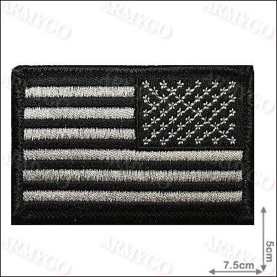 【ARMYGO】美國國旗(黑色-朝右版)