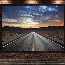 風景裝飾畫山水風景雪山湖泊公路小徑林蔭大道辦公室海報唯美掛畫(不含框)
