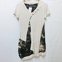 【Kstyle】精品店過季商品P&M--不規則拼貼短袖洋裝