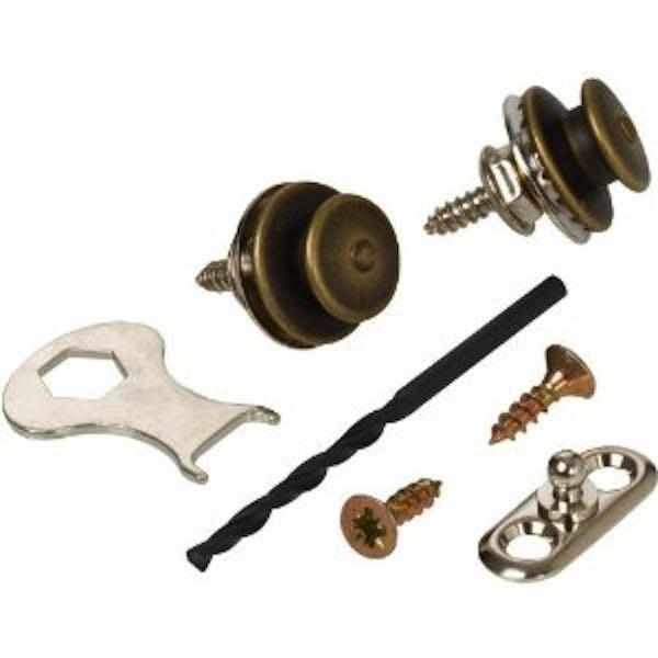 《民風樂府》德國製 LOXX-A-A-Brass 木吉他專用 古董黃銅安全背扣 安裝簡單 Dunlop 可比較