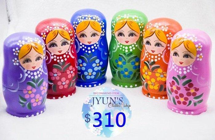 套件 俄羅斯正品套娃5五層環保套娃兒童玩具創意許願生日禮物情人節擺件1色-JYUN'S 預購