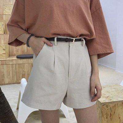 夏装女装2018新款韩版高腰宽松阔腿裤显瘦休闲裤学生直筒裤短裤潮