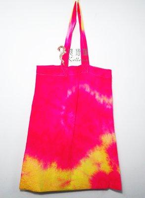 蔻珞瑪手染購物袋-桃黃