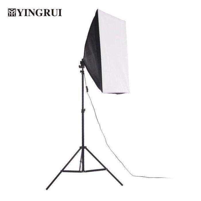 單燈柔光箱2米燈架套裝攝影燈影棚常亮補光燈拍照器材