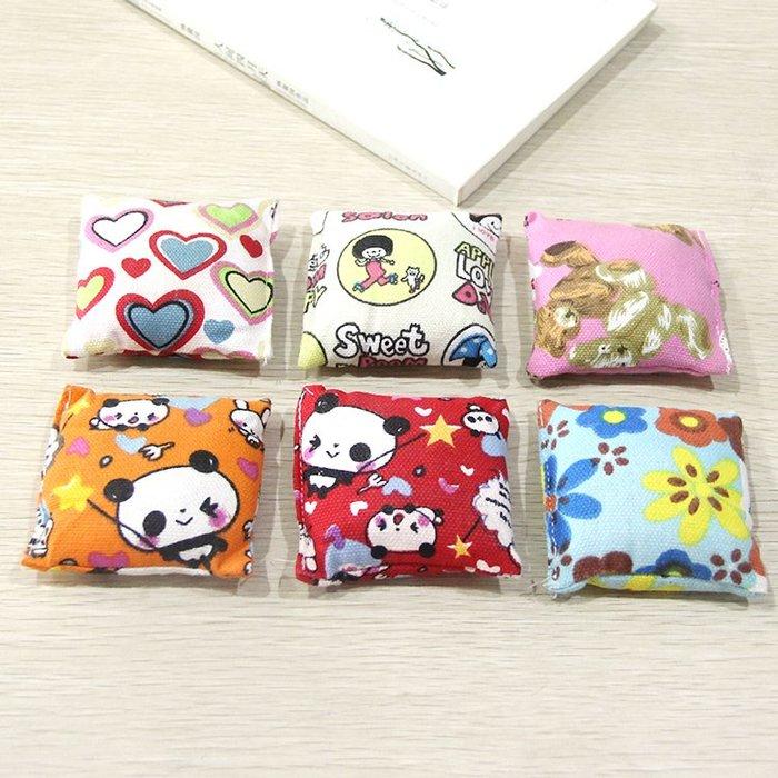 雜貨小鋪 幼兒園課外活動用品小朋友沙包丟沙包防漏卡通帆布沙包兒童玩具!六件起售 !