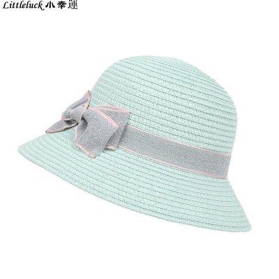 童裝2019春夏季洋氣漁夫帽遮陽帽蝴蝶結搭配兒童草帽防曬女童可愛甜美