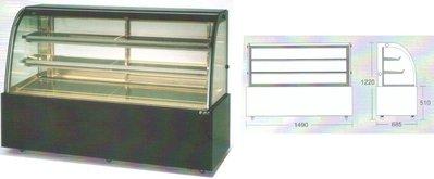 瑞興 彎玻璃3層蛋糕展示櫃 / 蛋糕冷藏展示櫥 / 營業用蛋糕冷藏展示櫃