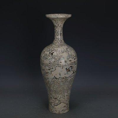 ㊣姥姥的寶藏㊣ 唐代白地全手工絞胎魚尾瓶  文物出土古瓷器古玩古董收藏擺件