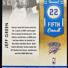 JEFF GREEN 2009-10 CONTENDERS #18 LOTTERY WINNER DRAFT 特卡