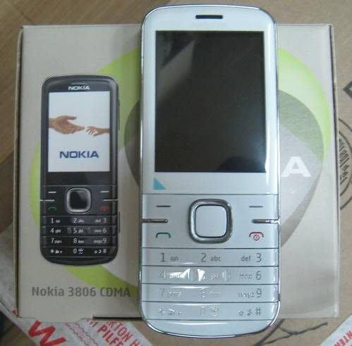 『皇家昌庫』Nokia 3806 黑白兩色現貨..亞太專用 支援Facebook 藍牙 記憶卡 200萬照相