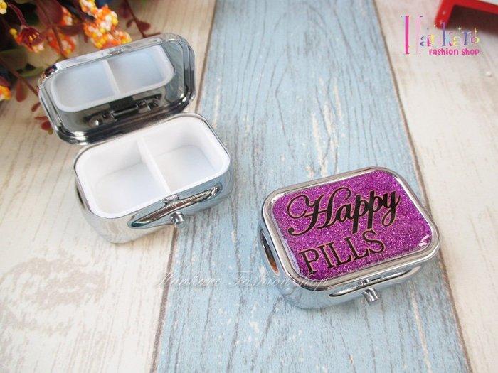 ☆[Hankaro]☆ 歐美流行Happy pills紫色金屬小藥盒